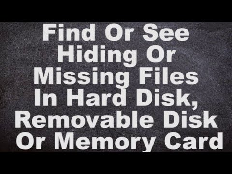 Show or View Hidden Files and Folder In Hard Disk, Removable Disk Or Memory Card