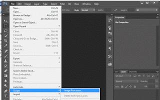 Adobe Photoshop File Menu