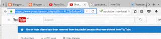 Copy playlist link