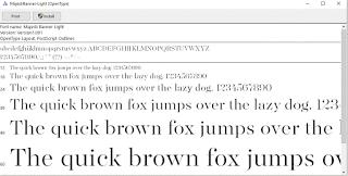 Font Installation Window