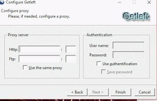 GetLeft Proxy Config