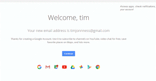 Google Welcome Message