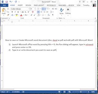 Microsoft Word written