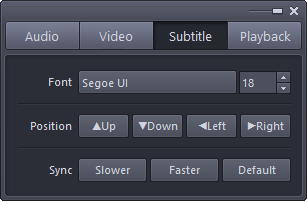 Subtitle Control Panel