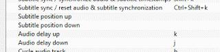 VLC audio delay keyboard shortcuts