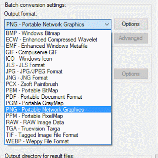 irfanView Batch Conversion Settings