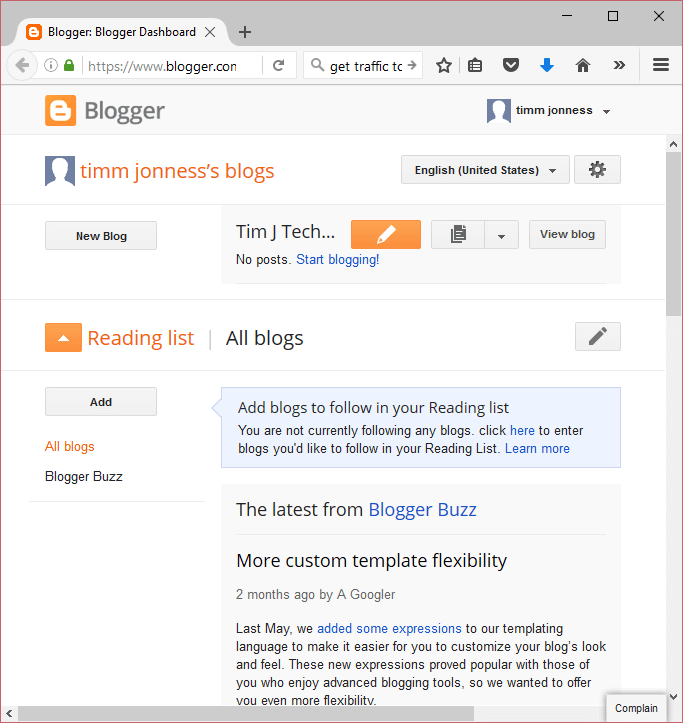 how to install or upload a template in blogger about device