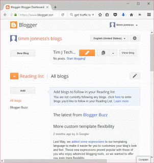 Login into blogger