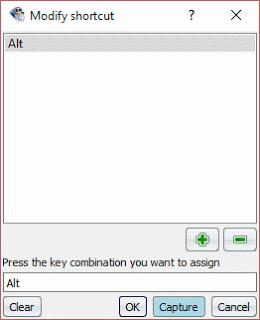 SMPlayer Modify shortcut