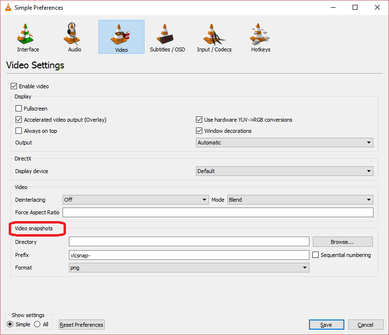 Find or Change Screenshot Folder or Location on VLC • About Device
