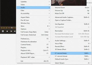 Audio Delay Using Right Click