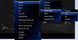 ALLPLayer aspect ratio using right click
