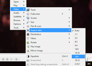 UMPlayer Aspect ratio using right click