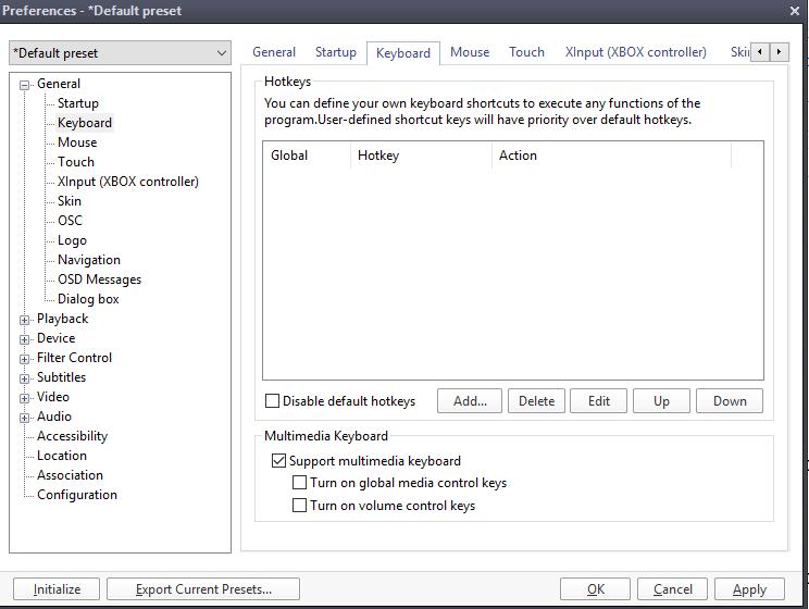 Daum PotPlayer Keyboard Shortcut or Hotkeys • About Device
