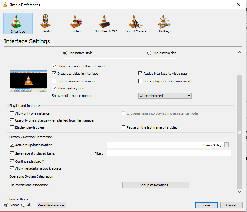How to Change the Quality Level of VLC Snapshot or