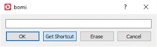 bomi create shortcut