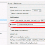 Bomi Player – Change Snapshot or Screenshot Location