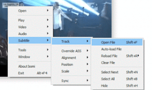 Bomi Player – Sync subtitle to audio or video