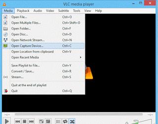 VLC Media Menu Bar
