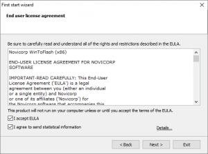 WinToFlash Accept EULA