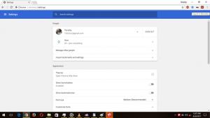 Chrome Settings Window