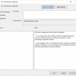 How to enable or disable Windows Defender Using gpedit.msc