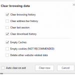 Clear Cookies, History, Cache and  Browsing Data in Maxthon Browser