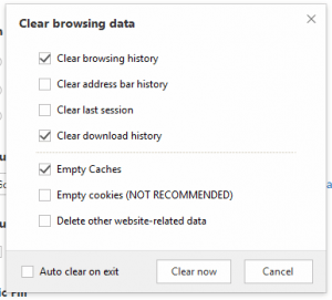 Maxthon Clear Browsing Data