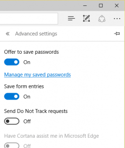 Microsoft Edge Do Not Track