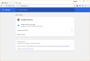 Google Chrome Up to Date Check