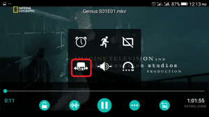 AC3 Player Subtitle Button