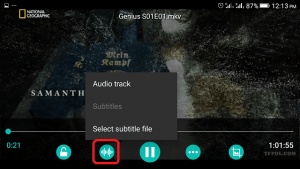 AC3 Player Subtitle Tab