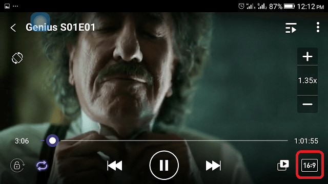 How to change Aspect ratio on the VLC Media Player (Android