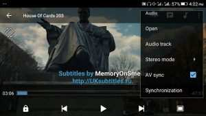 MX Player Audio Sync Settings
