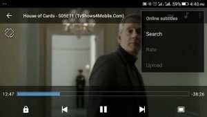 MX Player Subtitle Search
