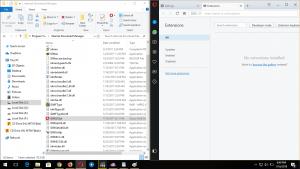 Split Screen IDM Folder and Opera Browser