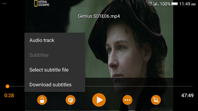 VLC Media Player - Load External Subtitle File • About Device