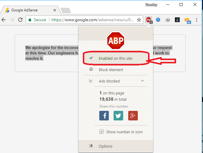 Disable Adblock Plus on a Site