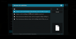 Load Subtitle on Kodi