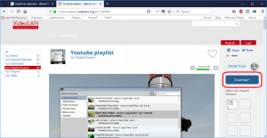 YouTube Playlist VLC extension