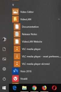 VideoLAN Startmenu