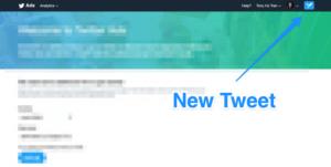 Click New Tweet