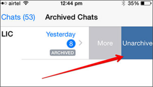 Unarchive Chat on iOS