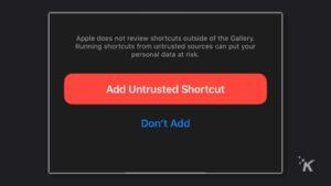 Add Untrusted Shortcuts