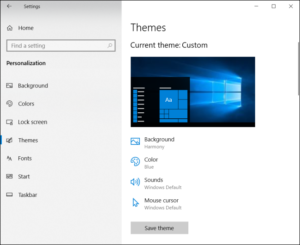 Changing Themes on Windows 10