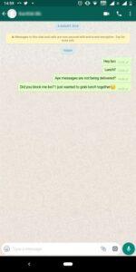 WhatsApp Blocked Chat