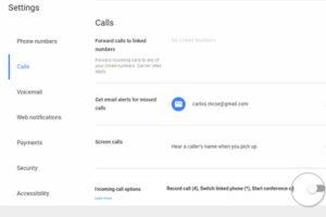 Toggle the incoming call option on