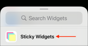 Choose Sticky Widget