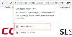 Click Certificate (Valid)