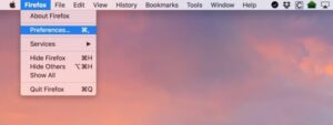 Click the Firefox drop-down menu